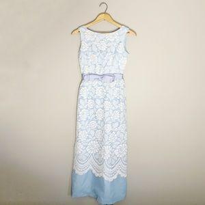 Vintage 60s maxi lace dress.